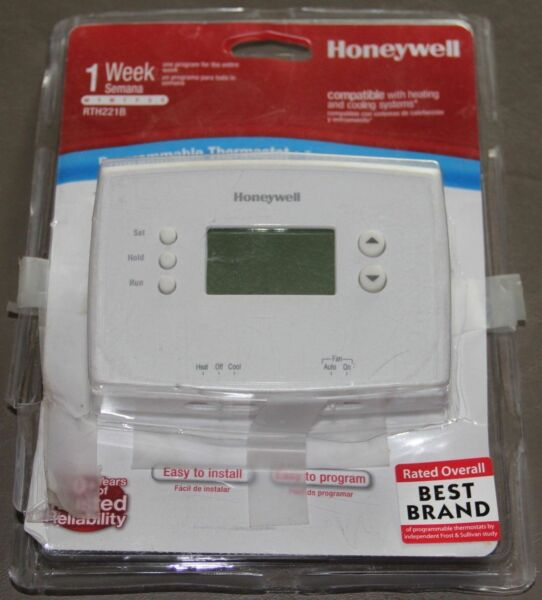 Honeywell RTH221B Digital Weekly Programmable Thermostat New Open Package