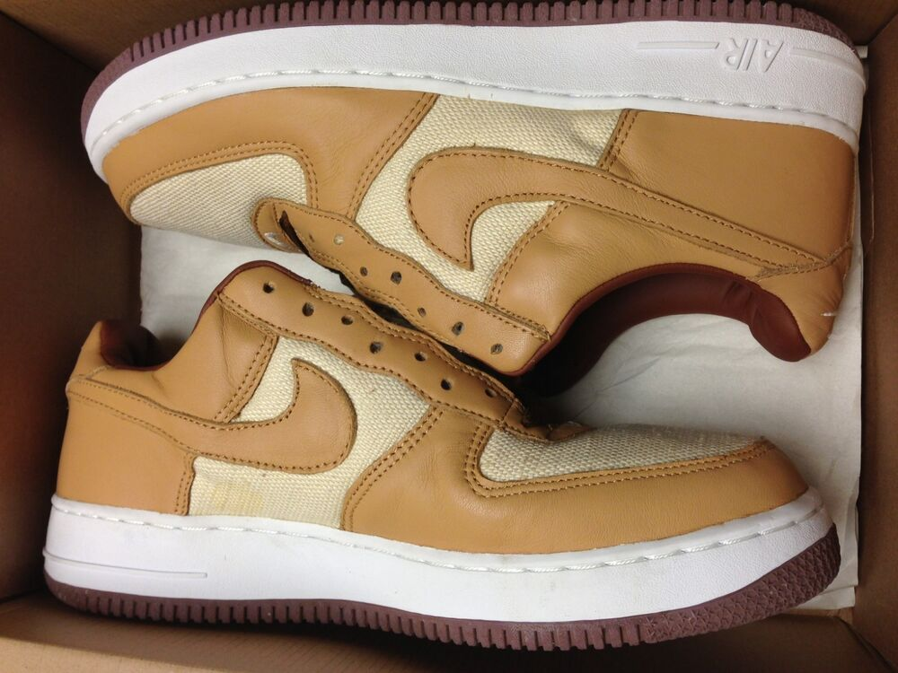cheap for discount a50b0 8e377 Details about 2002 DS Brand new Nike Air Force 1 NATURAL UNDERBRUSH ACORN  BROWN US 9