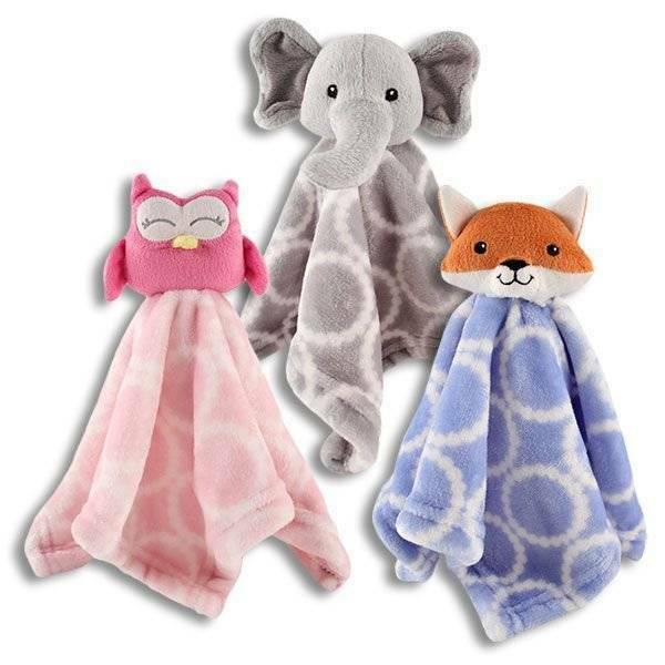 Hudson Baby Plush Animal Security Blanket 14 Owl Elephant Fox Ebay