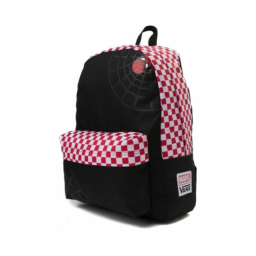 1d45e8cf5e Details about Vans Off The Wall X Marvel Spidey Spider-Man Realm Backpack -  Black Racing Red