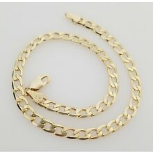 14K Italy Gold Plated Cuban Chain Anklet Bracelet
