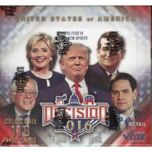 DECISION 2016 TRADING CARDS RETAIL BOX BLOWOUT CARDS