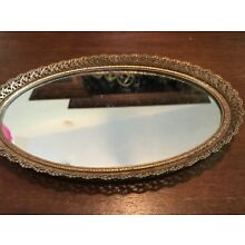 Vintage Mirrored Jewelry Tray
