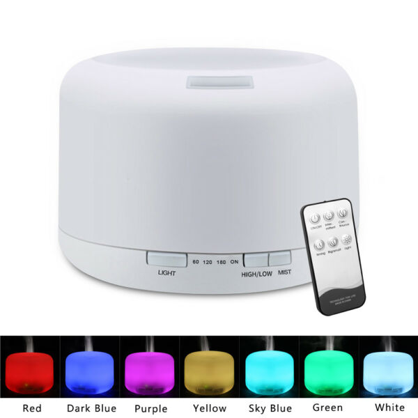 Essential Oil Diffuser 500ML Air Aroma 7 LED Ultrasonic Aromatherapy Humidifier