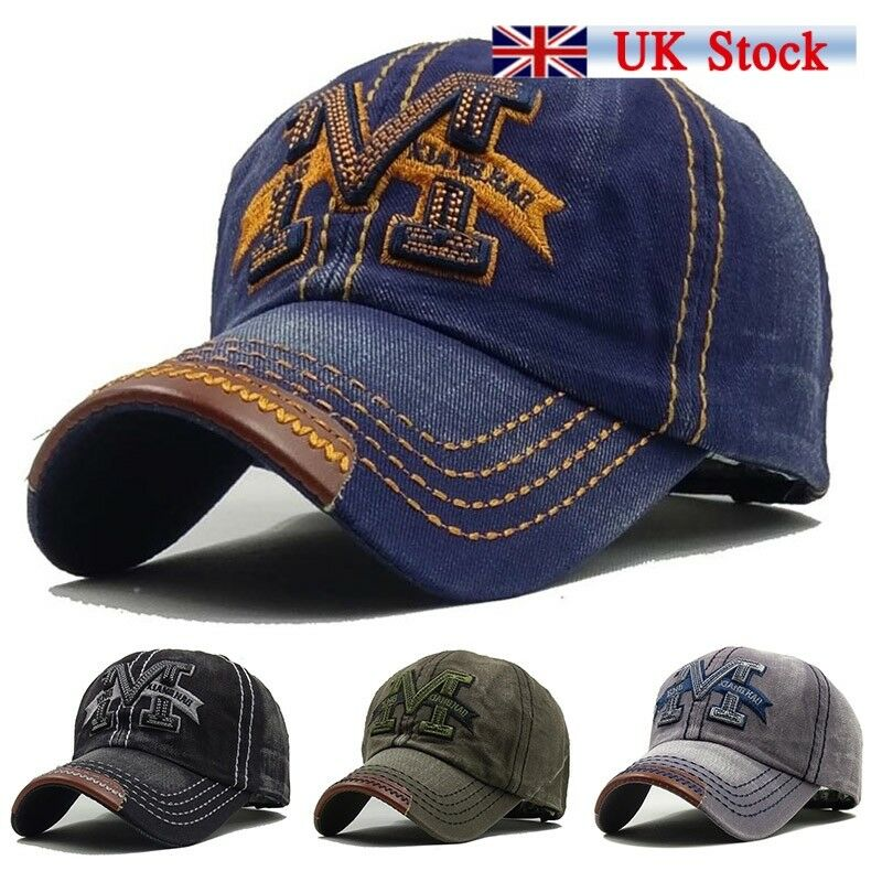 Details about UK New Men Vintage Snapback Baseball Ball Cap Outdoor Sports  Hats Adjustable f0f99d7743c