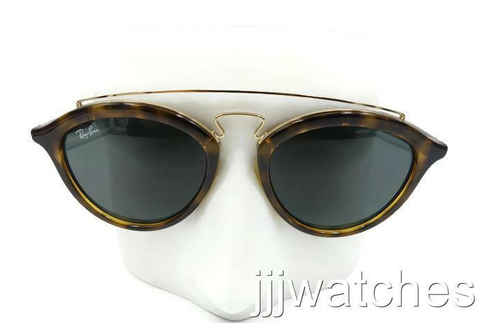 82e1145c26 Details about New Ray-Ban Gatsby II Gold Tortoise Green Classic Sunglasses  RB4257 710 71 50