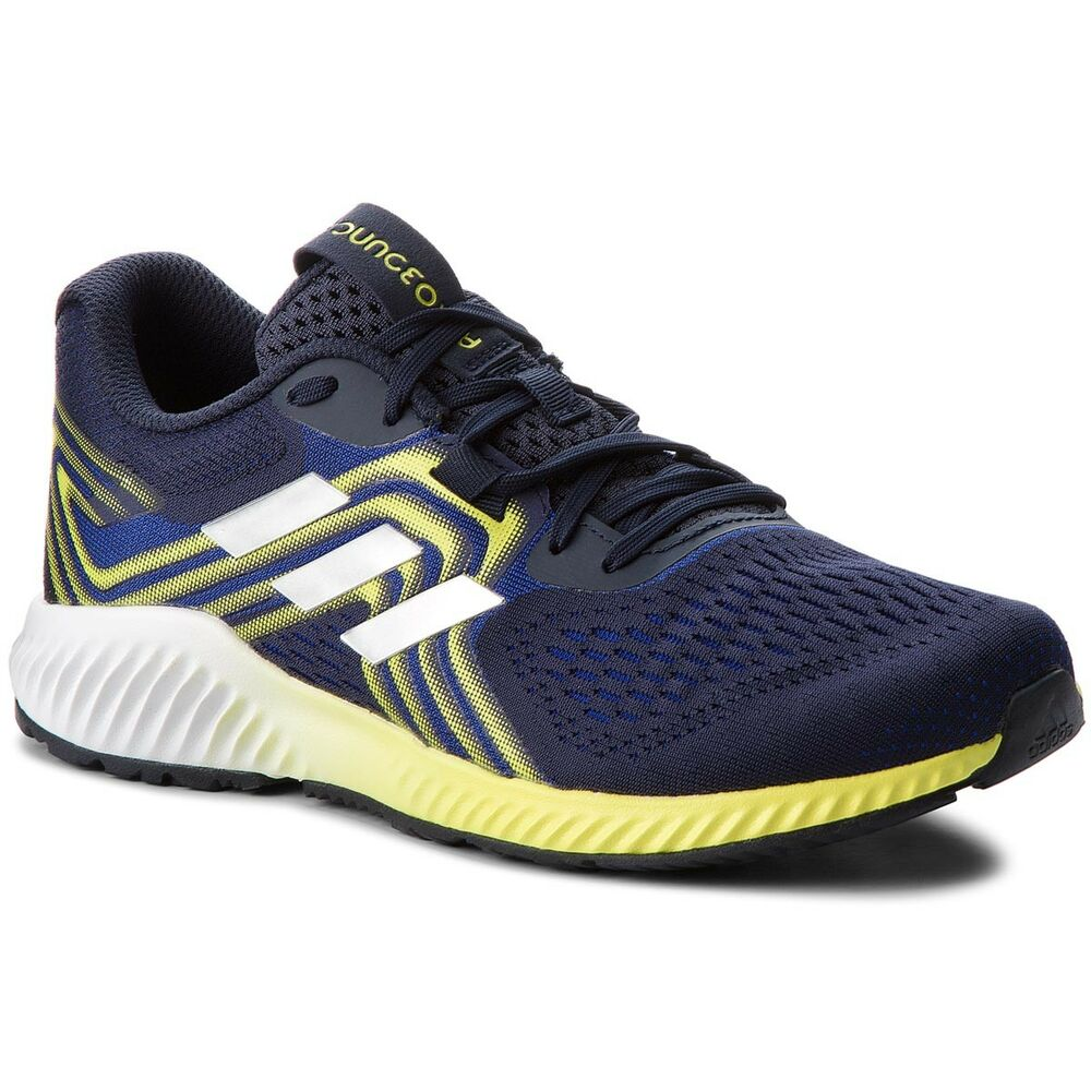 finest selection ffd54 e5891 Details about New Adidas AeroBounce 2 Mens Running Shoes Mystery  InkYellow Trainers AQ0534
