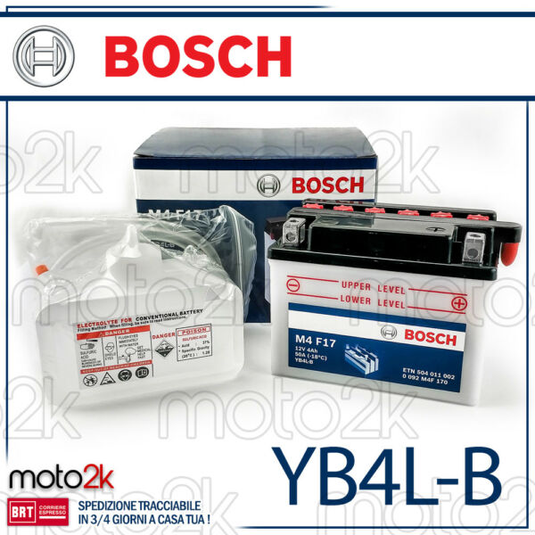 BATTERIA BOSCH YB4L-B MALAGUTI F12 PHANTOM AIR 50 1994 > 1998