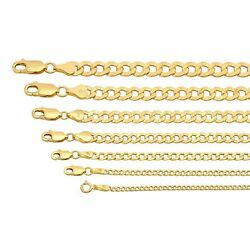 Kyпить BRAND NEW 10k Yellow Gold 2mm-7.5mm Cuban Curb Link Chain Necklace 16
