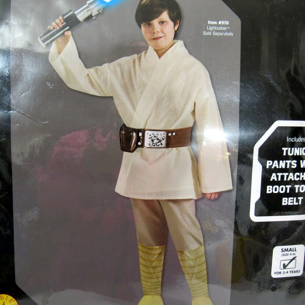 Star Wars Luke Skywalker Costume Cosplay Child Size 4 To 6 Fits 3 4
