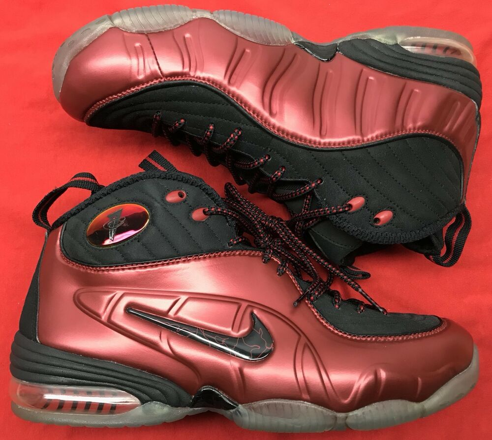 59fddeeb1f2fa Details about 2010 Nike 1 2 Cent Cranberry Varsity Red Black Foamposite Pro  344646-600 Sz 9.5