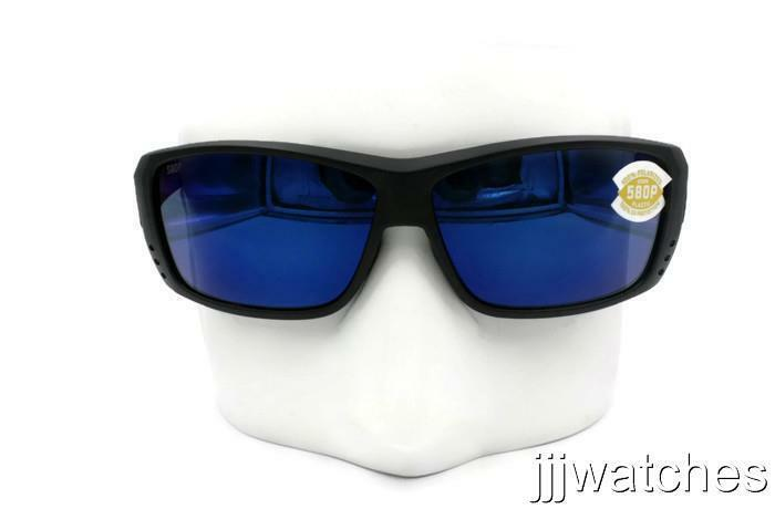 be9da52f963 Details about Costa Del Mar Cat Cay Blackout Blue Mirror Polarized 580P  Sunglasses AT 01 OBMP