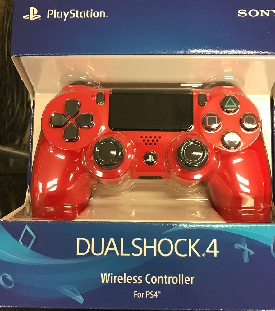 Sony Playstation 4 Ps4 Dualshock Wireless Controller Magma Red Cuh Zct2u 711719504405 Ebay Ds4 New Dual Shock Light Gold Model