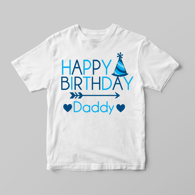 Details About Happy Birthday Daddy Party Hat Boys Childrens Kids T Shirts Shirt Top Gift