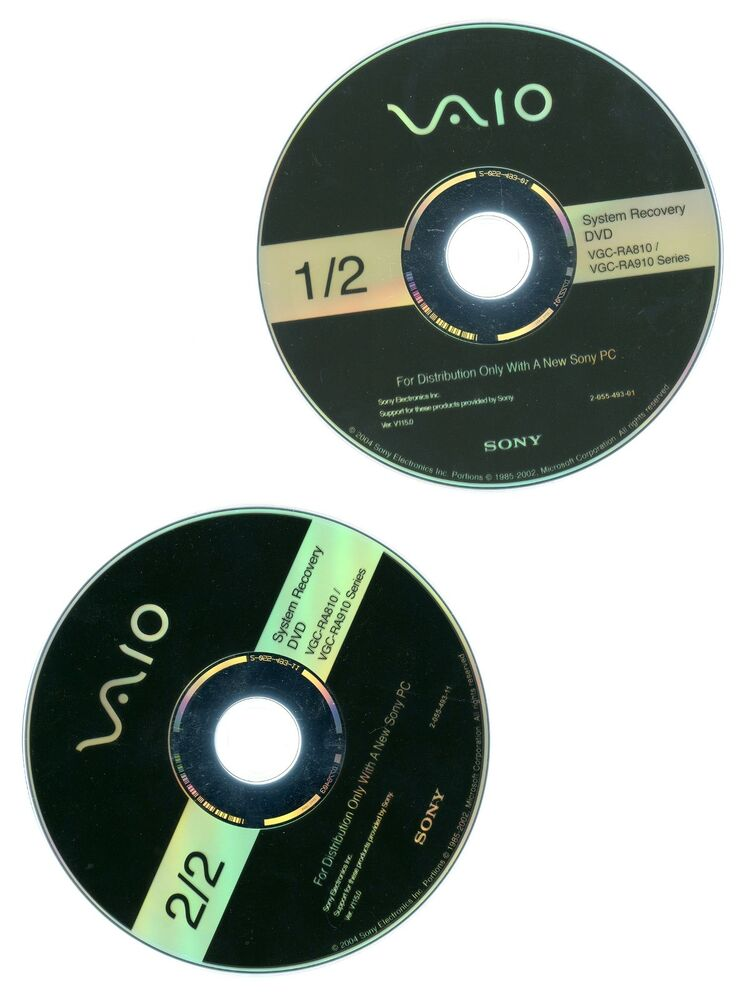 sony vaio recovery disk iso