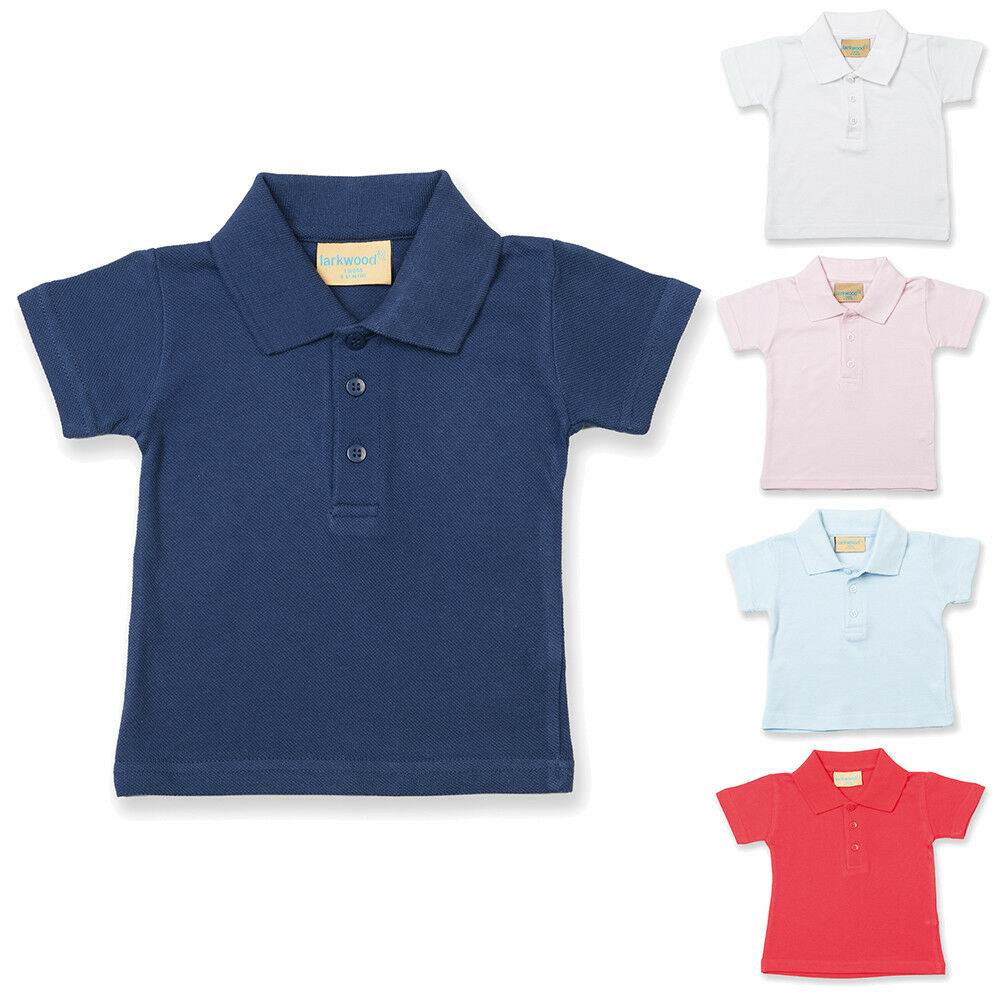 d138f98ed Details about New LARKWOOD Baby Infants Cotton Polo Shirt in 5 Colours 5  Sizes