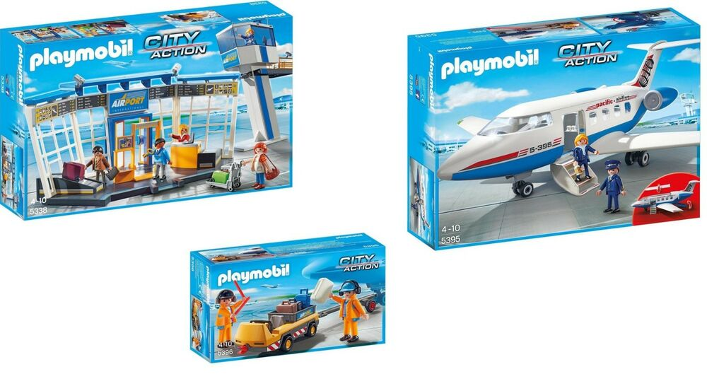Playmobil #5338 Airport with Control Tower New Factory Sealed