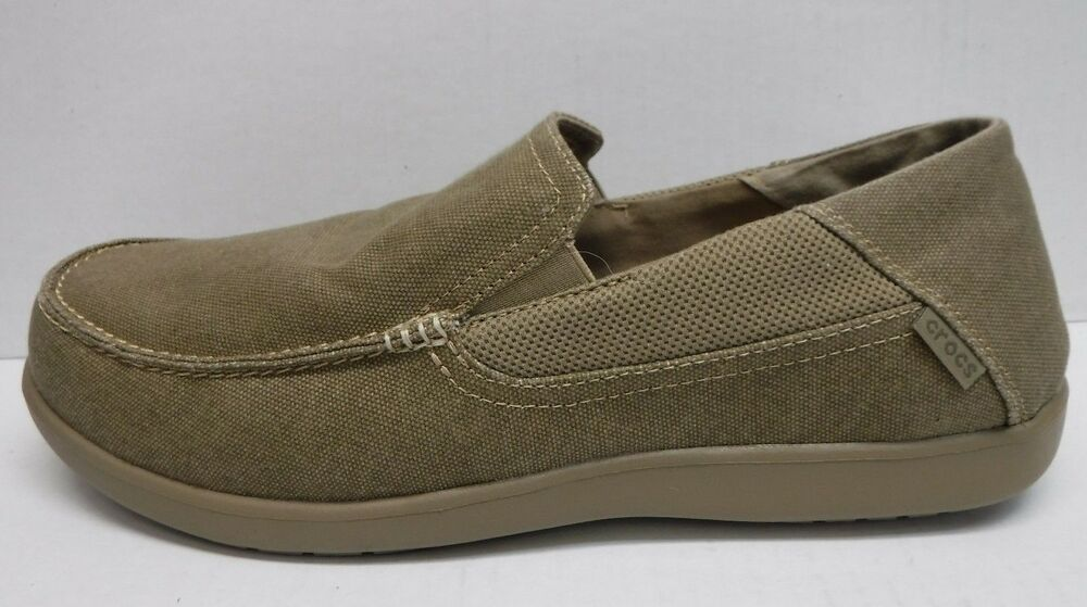 52f9ffebb5906 Details about Crocs Size 13 Khaki Loafers New Mens Shoes