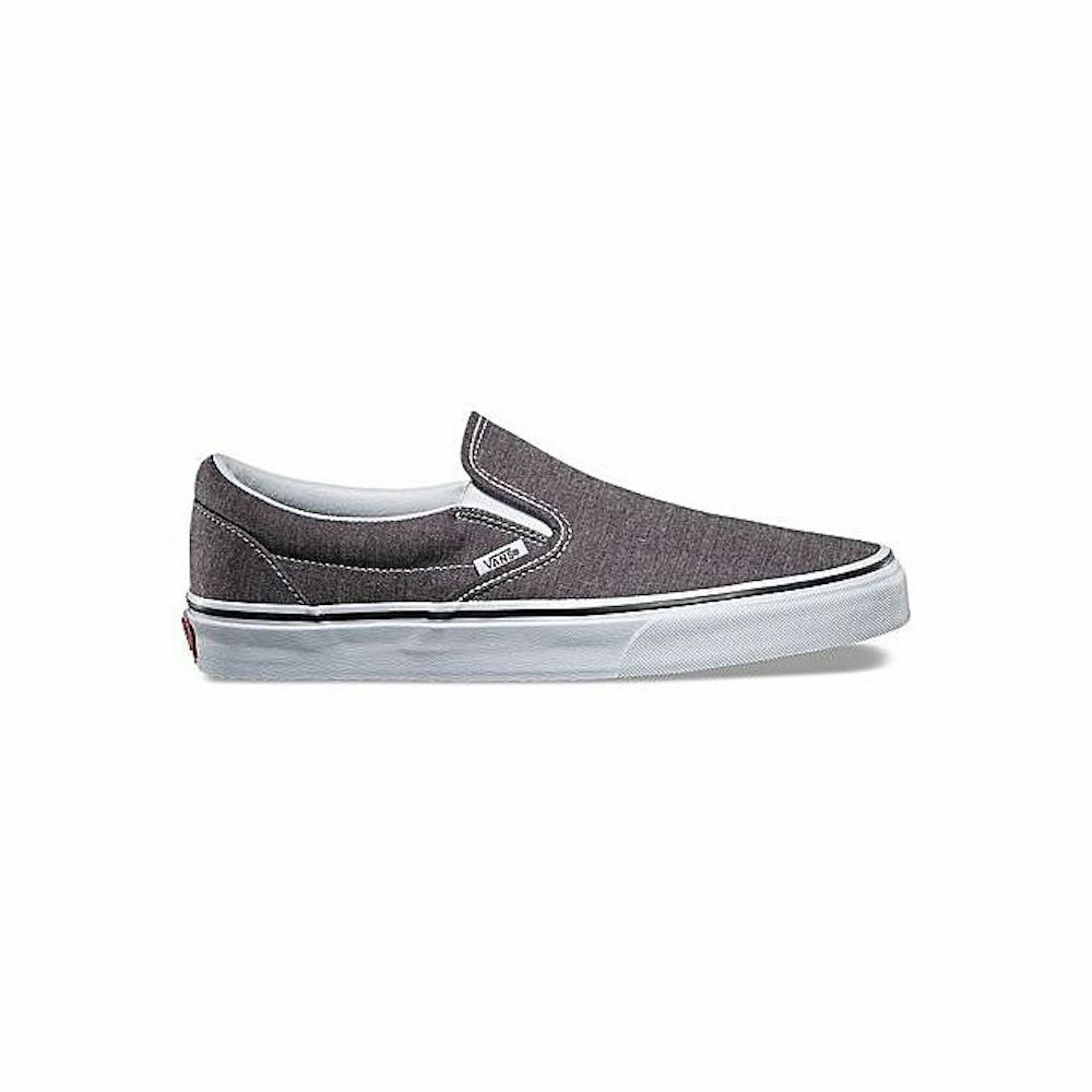 Details about Vans Men s Classic Slip-On Herringbone (VN0A38F7QCZ) Skate  Shoes Charcoal  White ab4639138