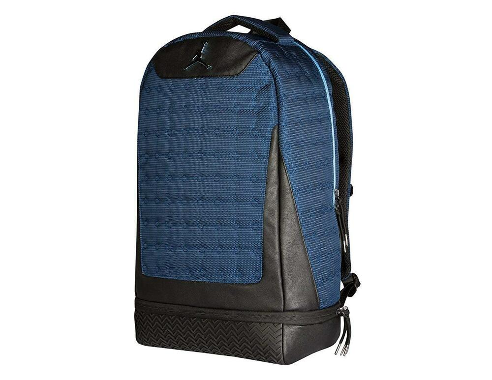 Details about NIKE Air Jordan Retro 13 XIII Backpack Black Midnight Navy  9A1898-007 cf640831a8f90