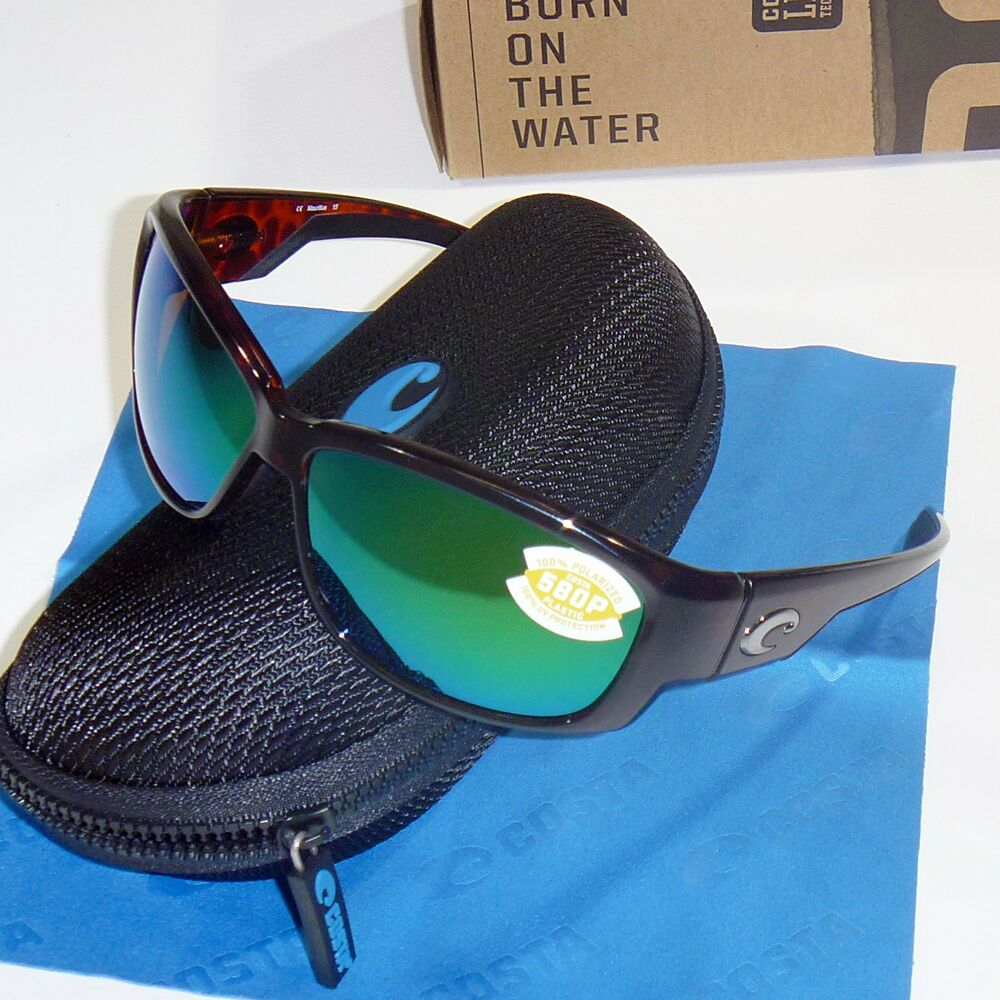 d7b0b24f70 Details about Costa Del Mar Luke Polarized Sunglasses - Tortoise Frame Green  Mirror 580P Lens