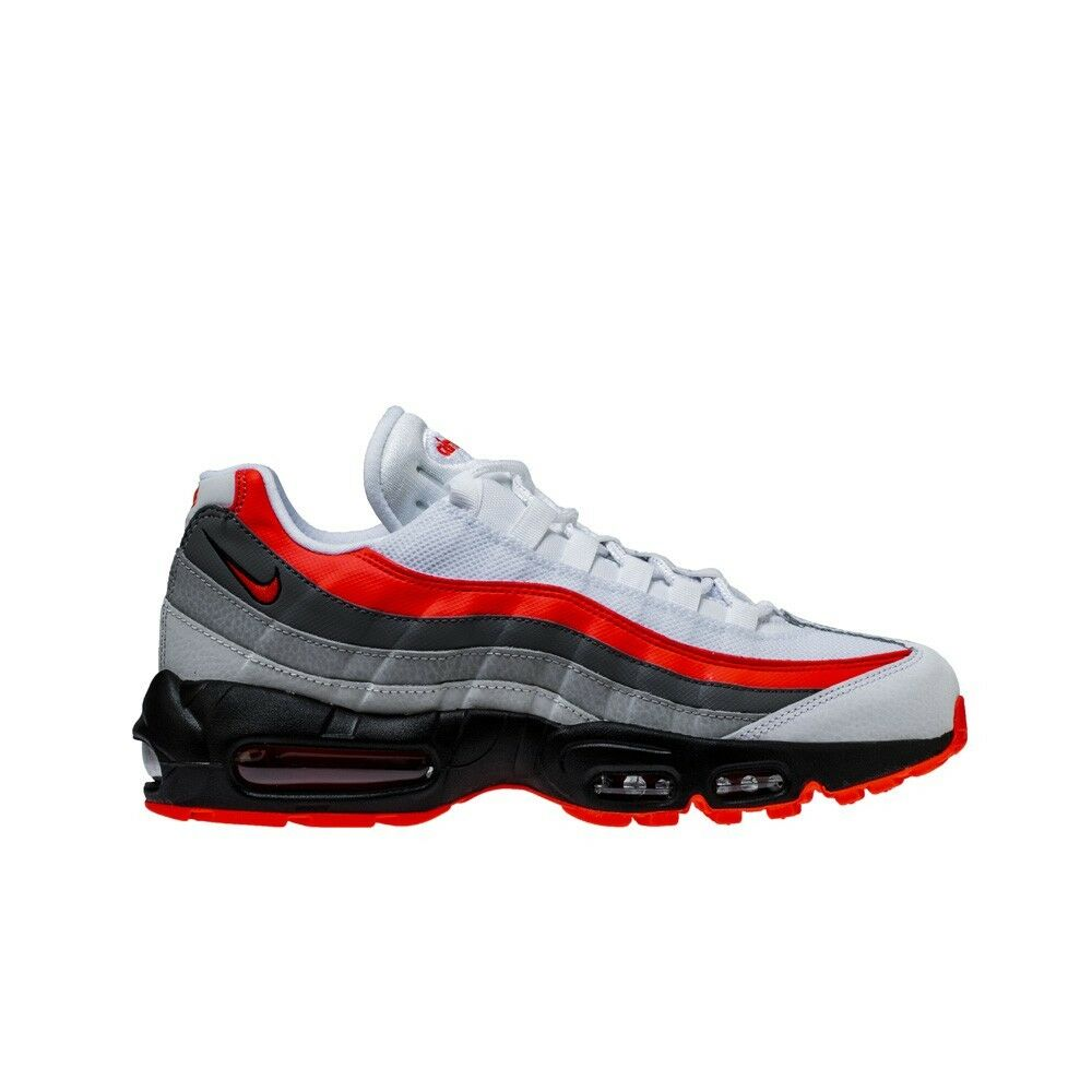 newest f7615 b6718 Details about Nike Air Max 95 Essential (White Bright Crimson-Black) Men s  Shoes 749766-112
