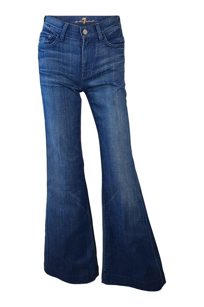 Details about  SEVEN FOR ALL MANKIND  HIGH WAIST FLARE JEANS (W24 L32) e000b371d