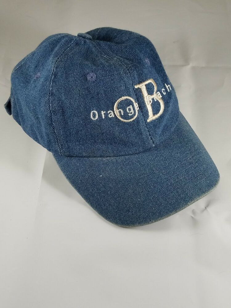 Details about Vintage Collectible ORANGE BEACH Embroidered Blue Jean  Baseball Cap Hat One Size b9ff6b04037