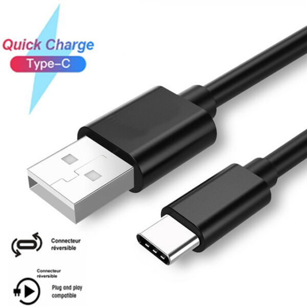 Cable Type-C USB Charger Galaxy Huawei Honor Xperia Note Nokia LG Xiaomi Google