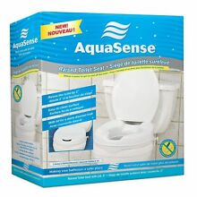 NEW AquaSense Raised Toilet Seat with Lid, White, 2 Inches , NIB, Free Shipping