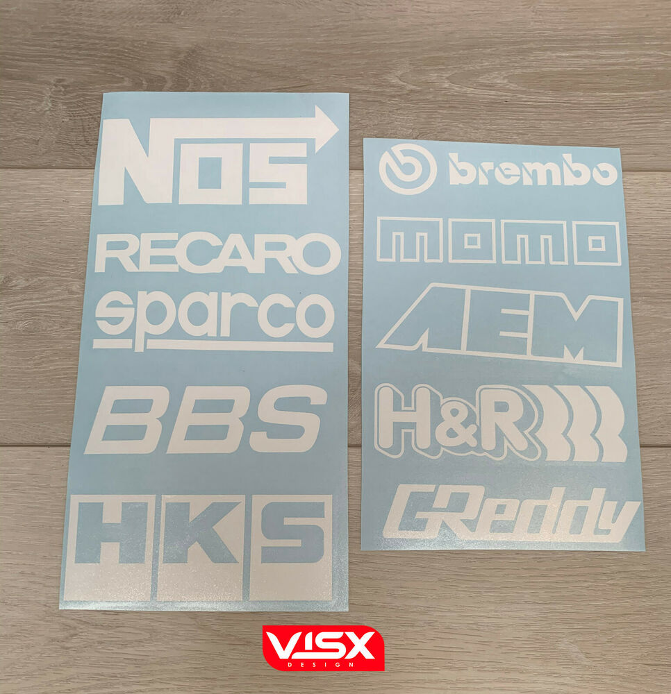 Details about 10 car sponsor die cut vinyl decal pack honda jdm racing stickers evo sti