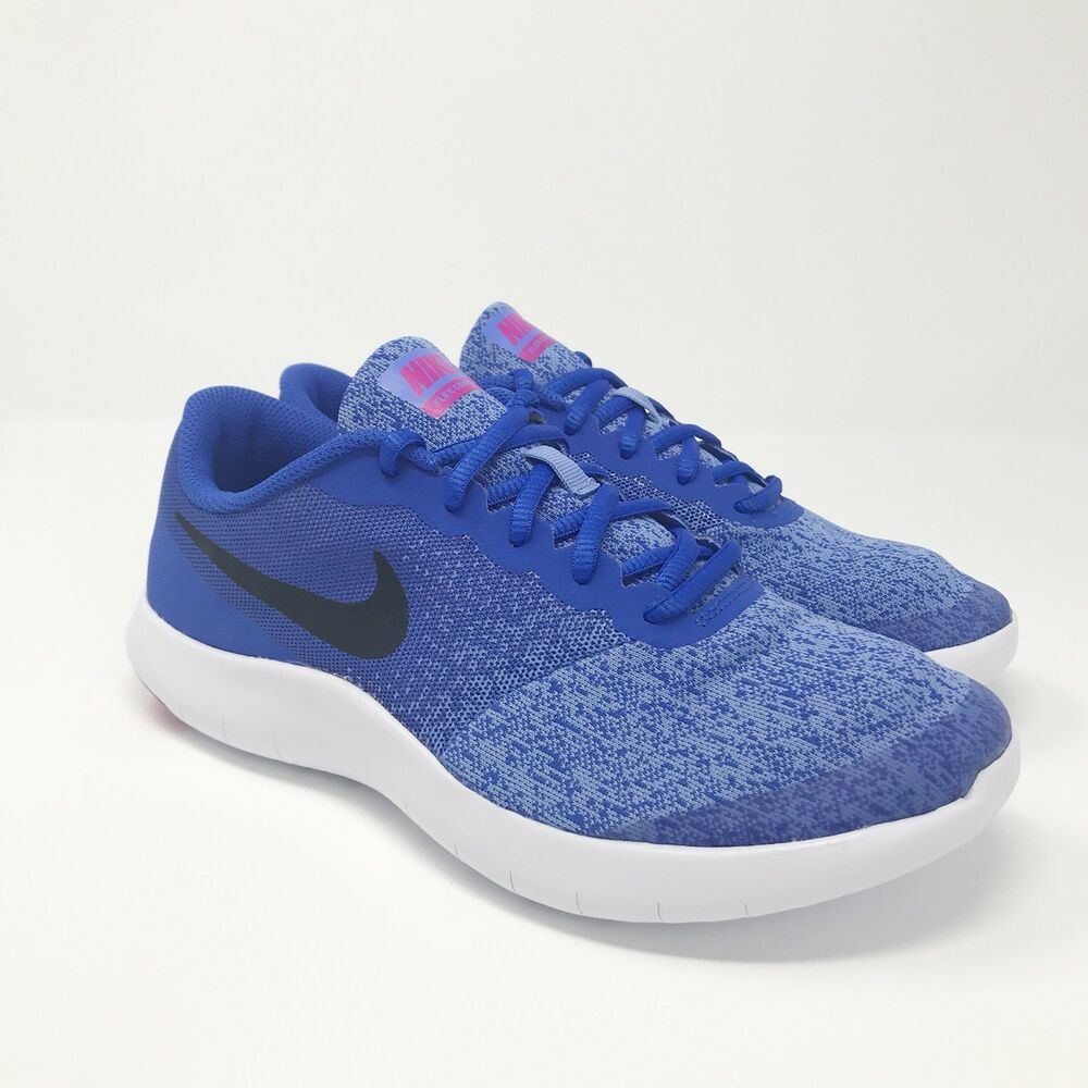 acf8a23eb3b Details about Nike Flex Contact Running Shoes 917937-403 Size 6Y Womens 7.5