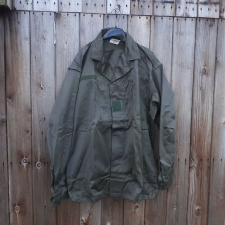 img-FRENCH FRANCE F2 OLIVE GREEN SHIRT / JACKET 112L - 44 INCH CHEST