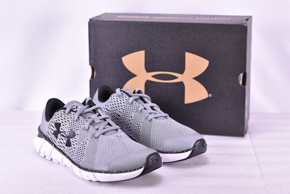 598468fa6487b Details about Boy s Under Armour X Level Scramjet Running Shoes Steal White