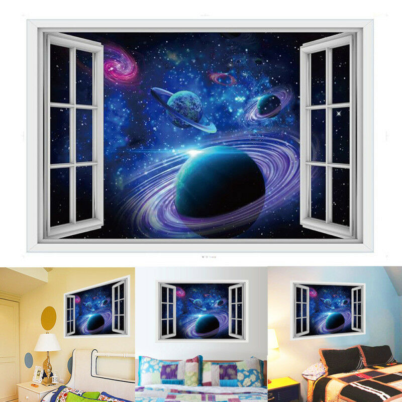 us galaxy planets 3d planet removable wall decal vinyl sticker art