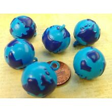 Vintage 18mm Plastic Globe Planet Earth Charms 6