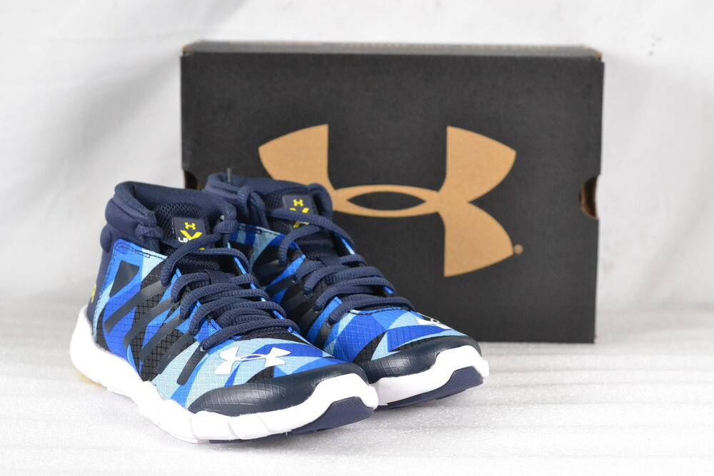 dc9a79bb8d2 Details about Youth Boy s Under Armour X Level Destroyer Running Shoes Blue  White