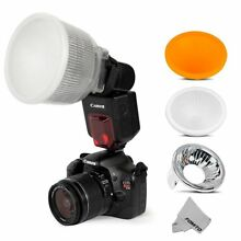 Fomito Universal Cloud Lambency Flash Diffuser+3 pcs For Flash Speedlite