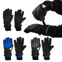 Statements 3-M Thinsulate Boy's Winter Cold Weather Warm Fleece Lined Ski Gloves