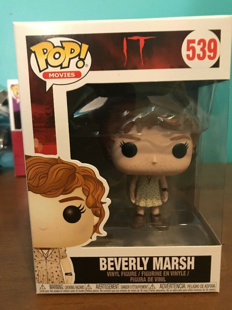 IT S2 Beverly w// Key Necklace Brand New In Box POP Movies Funko