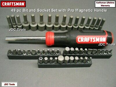 CRAFTSMAN 42 pc Tamper Proof Security and Nut Driver Bit Set w Handle 63 23 13