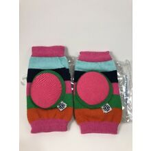 Baby Crawler Kneepads Happy Knees by Bella Tunno Gumball Stripe Pink
