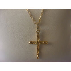 "Kyпить Childs/Baby Vintage 14k Yellow Gold Cross/15"" Chain/Necklace на еВаy.соm"