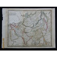 Attractive Map Of Asia 1812 Great Wall China Grand Canal Tartary Ottoman Empire