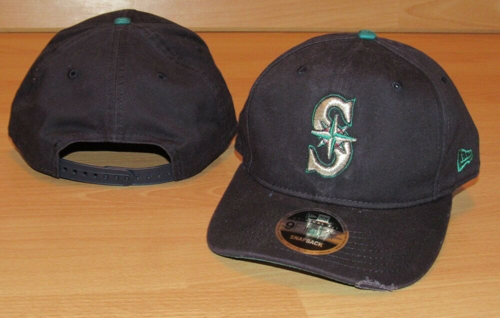 premium selection 28ea0 b4b0a Details about Seattle Mariners Rustic 9Forty New Era Adjustable Team  Snapback Hat Cap Men s