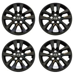 Kyпить Set (4pcs) BLACK Hubcap Wheelcover fits 2013 - 2018 Nissan ALTIMA 16