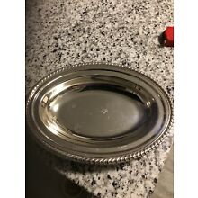 "Vintage  Silverplate  Oval Serving Dish No Lid 12"" X 9"""