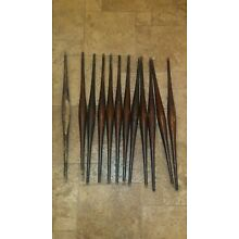 LOT 12 Antique Spindle Balusters Matching Salvaged from church/hall upper walk