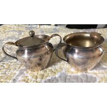 Vintage Silver creamer and sugar Tea Set Remembrance 1847 Rogers Bros IS
