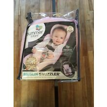 Summer infant muslin snuzzler complete head & body support NIP Pink